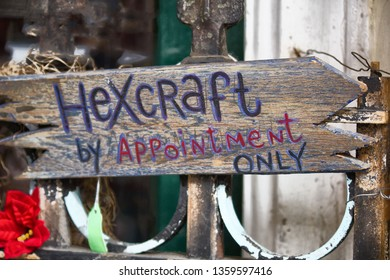 Hexcraft by Appointment Only Wood Sinage in New Orleans LA