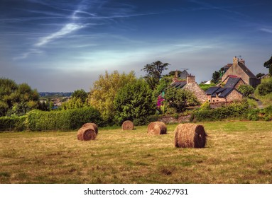 Hey Bales on the Island of Brehat, Brittany