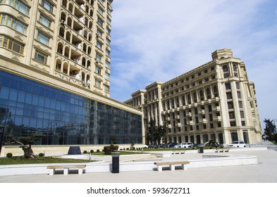 Heydar Aliyev Avenue, Baku, Azerbaijan.