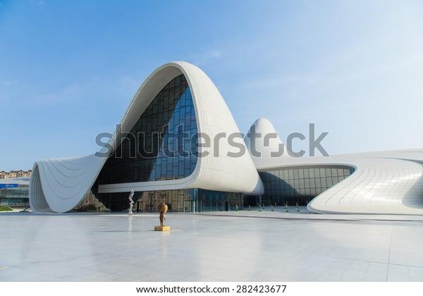 Heydar Aliyev Center in Baku, Azebaijan on May 24 2015