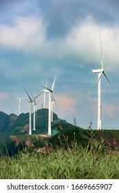Heyuan Queyashan Wind Farm in Guangdong, China