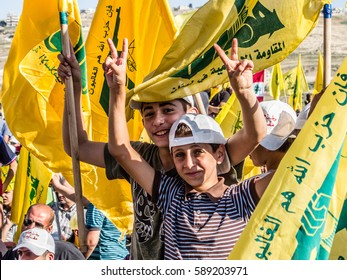 Hezbollah's young supporter at Liberation Day (Bint Jbeil, 25 May 2014)