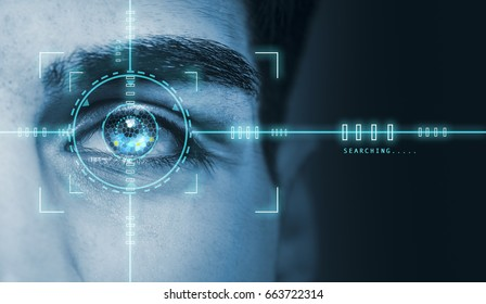 hi tech biometric retina security scan