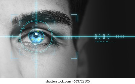 hi tech biometric security scan
