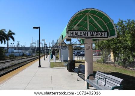 Hialeah Market Train Station Hialeah Florida Stock Photo