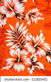 hibiscus flower background . Hawaiian patterns