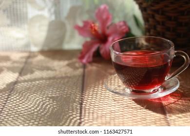 hibiscus tea and hibiscus flower