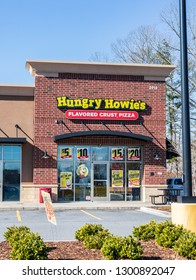 HICKORY, NC, USA-01/20/19:  Hungry Howie's is a franchised pizza chain, with over 550 locations in the U.S.