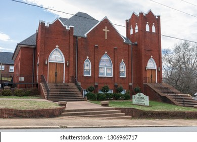 HICKORY, NC, USA-2/1/19: The Hmong Christian Life Center buildiing in west Hickory, formerly St. Paul's Lutheran Church.
