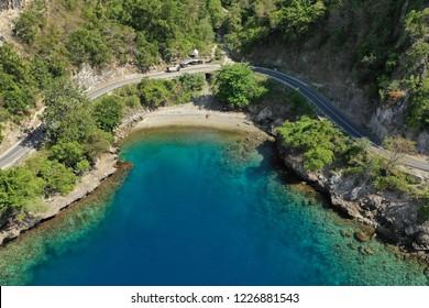 hidden beach at gorontalo indonesia