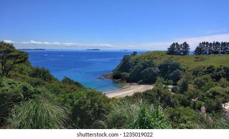 Hidden beach on Waiheke Island in Auckland, New Zealand