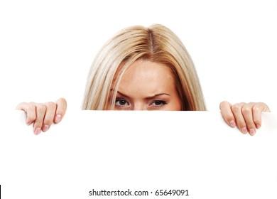 hidden behind a white sheet of paper