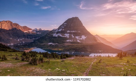 Hidden Lake Overlook Trail, Logan Pass, Glacier National Park, Montana, USA