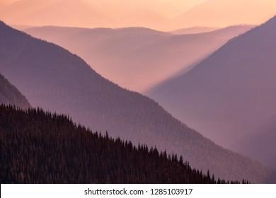 Hidden Lake Overlook Trail, Logan Pass, Glacier National Park, Montana, USA