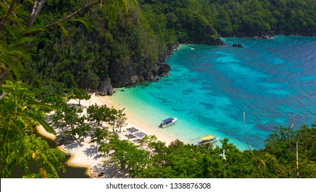 Hidden Paradise Cove With White Sand Beach and Lagoon - Tugawe, Caramoan - Philippines