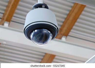 Hidden secure camera in a glass cover.
