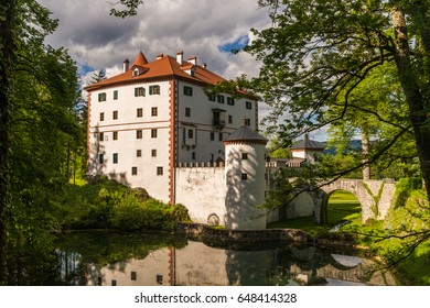 The hidden Sneznik Castle in Slovenia