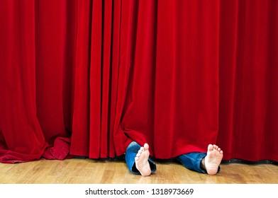 Hidden under Curtain