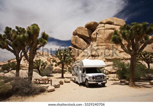 Hidden Valley Campground Joshua Tree National Stock Photo