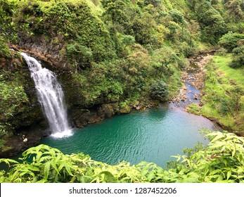 A hidden waterfall in Maui Hawaii