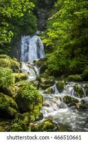 A hidden waterfall near Saint-Claude.