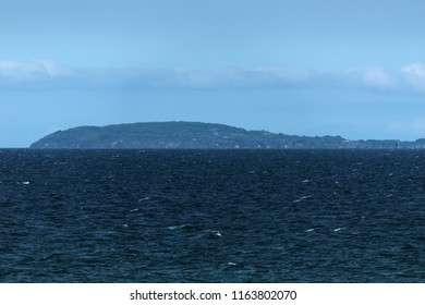 Hiddensee Island with lighthouse viewed from the Darss