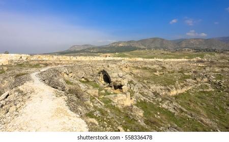 Hierapolis ancient city in Turkey near Pamukkale. Asia Minor