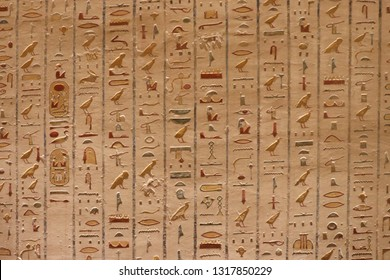 Hieroglyphics inside the Tomb of Rameses VI - Valley of the Kings