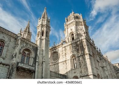 The Hieronymites Monastery in Lisbon, Belem, Portugal, EU, Europe.