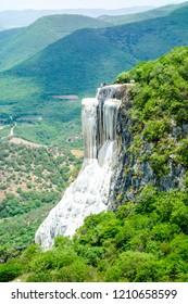 Hierve el Agua. Petrified waterfall in Oaxaca, Mexico.