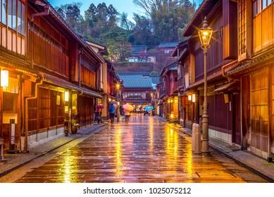 Higashi Chaya District in Kanazawa Japan