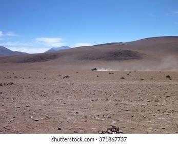 high altitude desierto colorado at bolivia altiplano desert