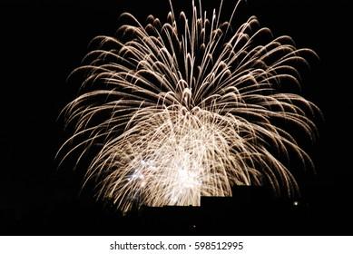 High altitude fireworks