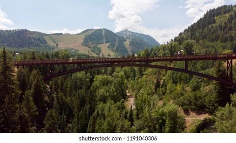 High Altitude Footbridge in Aspen Colorado