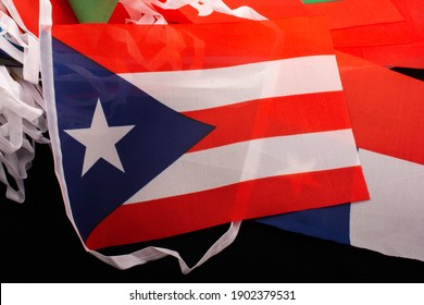 A high angle shot of Cuba flaglets