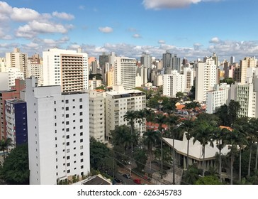 High Angle view of Campinas ,SP in Brazil