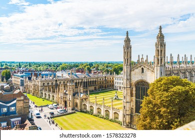 High angle view of the city of Cambridge, United Kingdom.