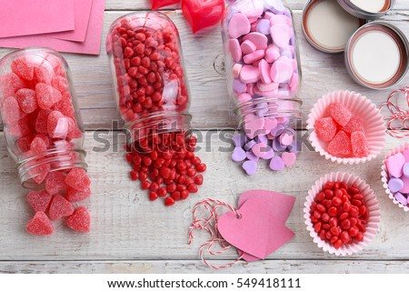 High Angle View Different Valentines Day Stock Photo Edit Now