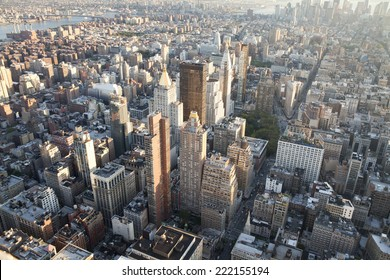 High angle view of Manhattan in New York City.