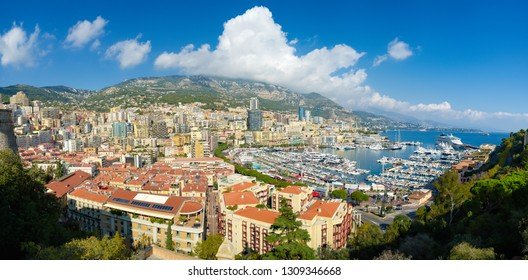 High angle view on Port Hercules in Monaco
