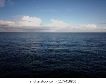 High angle view over the ocean
