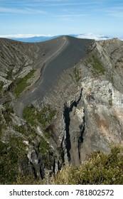 High angle view of a volcano, Irazu, Irazu Volcano National Park, Costa Rica