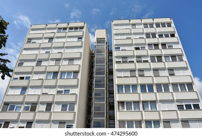 High apartment building in the city
