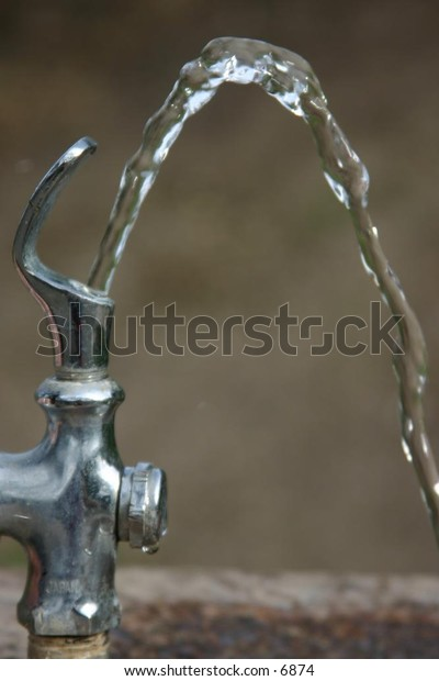 high arcing water from outside drinking fountain