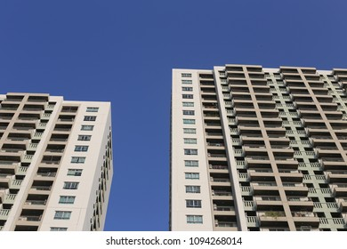 high building with blue sky