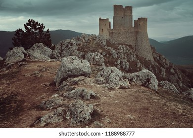 High castle of Calascio. Abruzzo, Italy
