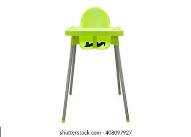 Hochstuhl. Sessel einzeln auf weißem Hintergrund