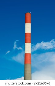 High Chimney With Blue Sky