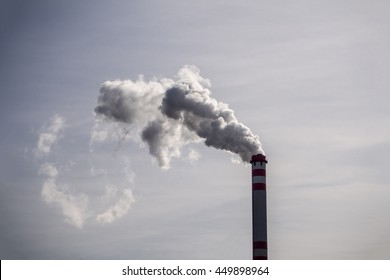 High chimney producing a lot of toxic gases