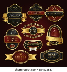 high class golden label collection set for retail usage